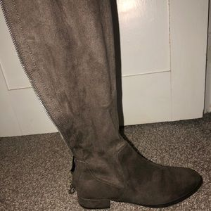 Charlotte Russe suede over the knee boots